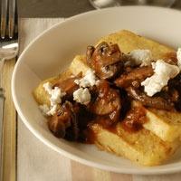 Broiled Polenta With Mushroom Ragout Recipe — Dishmaps