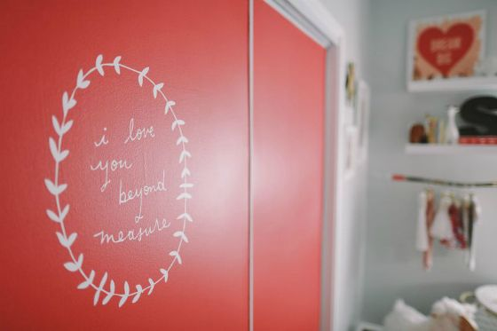 Love this message painted on the #nursery closet doors!