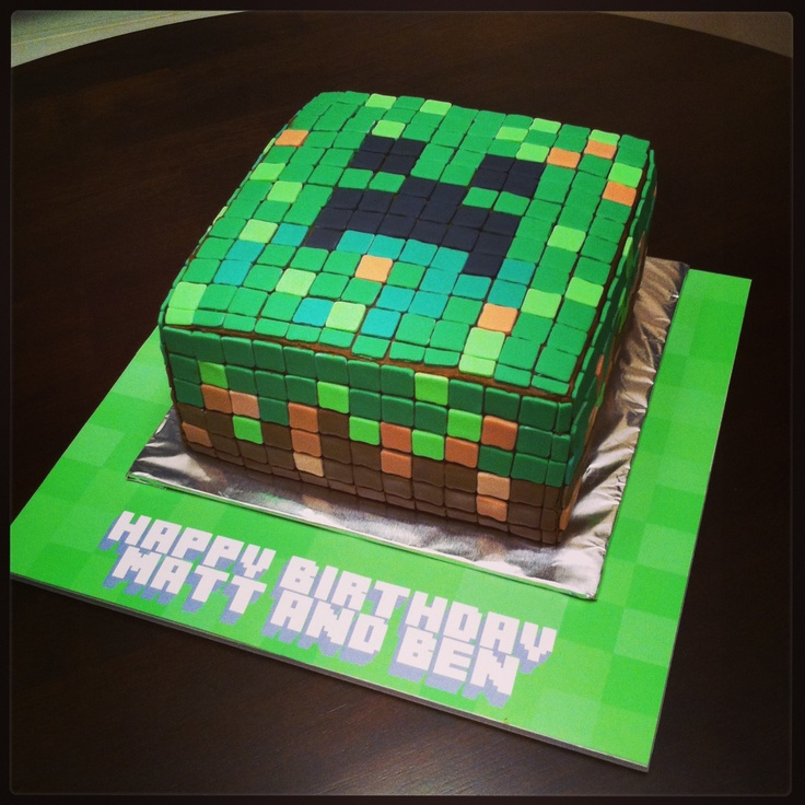 Minecraft Creeper cake Cakes - ideas for boys Pinterest