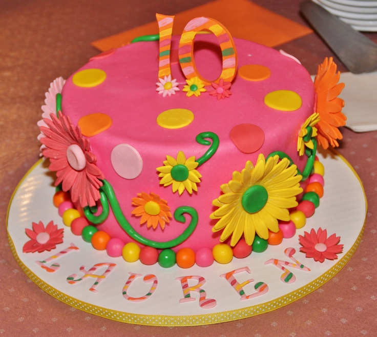 My 10 year old daughters birthday cake  Birthday Cakes for Kids ...