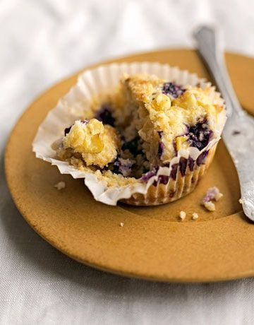 blueberries and a dusting of raw sugar kick this blueberry corn muffin ...