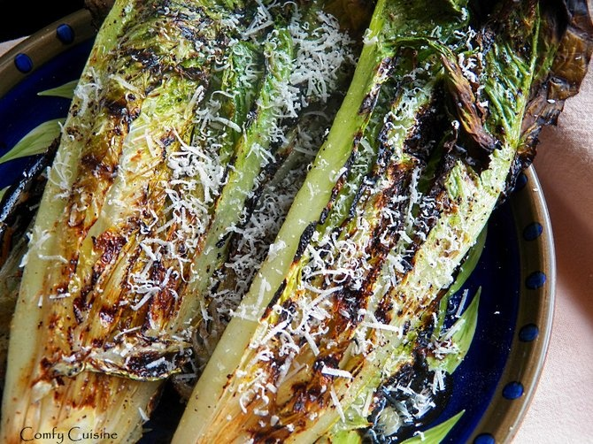 Grilled Romaine Lettuce~ Not sure about this but might have to try