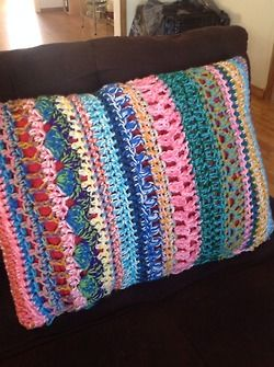 Crochet Stitches Multicolor : Crochet pillow,multi stitch, multicolor, Crafts Pinterest