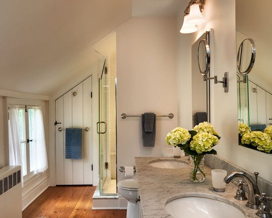 Sloped ceiling bath design for the home pinterest for Slanted ceiling bathroom