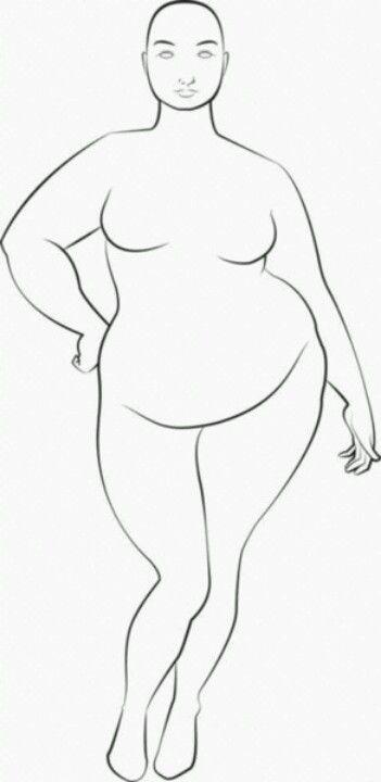 Plus size croquis | desenho | Pinterest