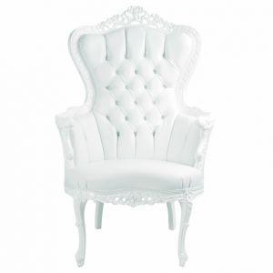 Fauteuil baroque king blanc choses acheter pinterest for Acheter miroir baroque