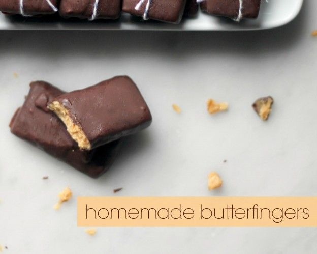 Homemade butterfingers!