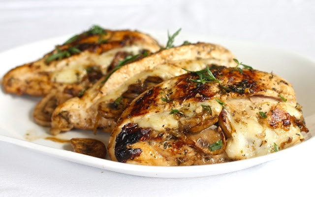 Mushroom and Swiss Stuffed Chicken | Recipes I want to try | Pinterest