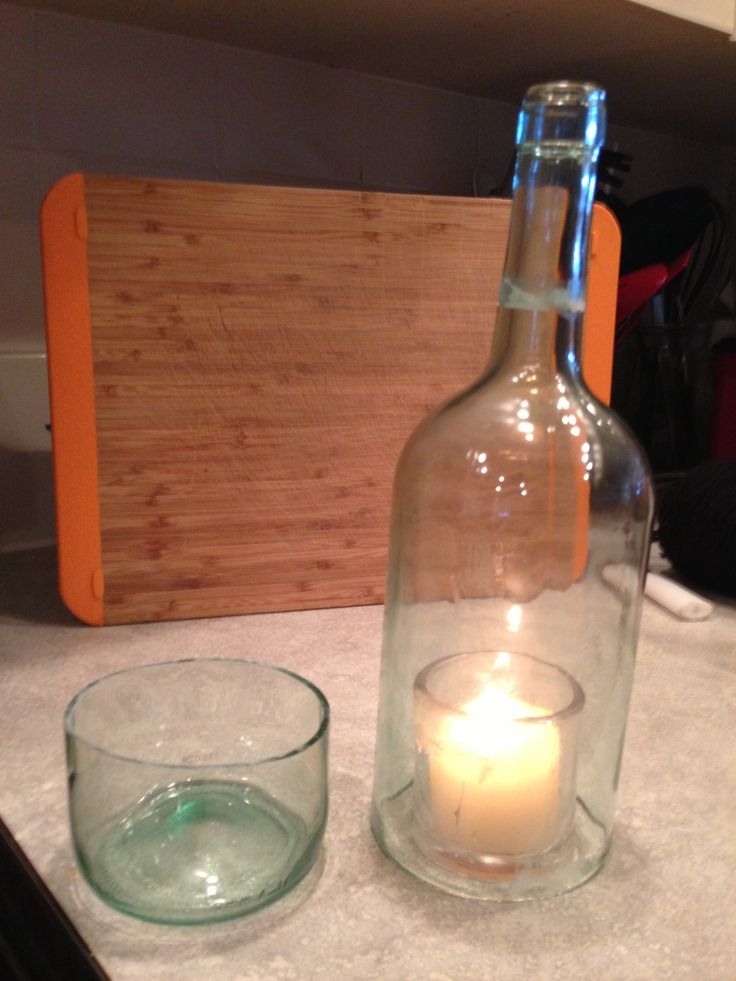 Pin by amber oman on idea for pinterest for Cut glass bottle with string and fire