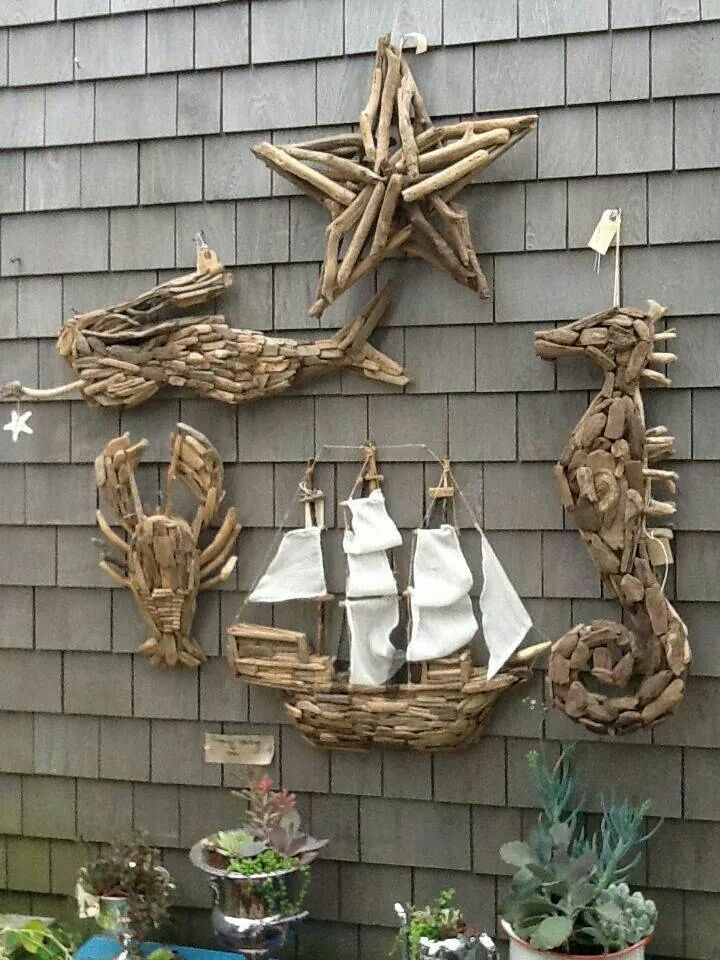 Driftwood art beach houses cottages n decor pinterest Driftwood sculptures for garden
