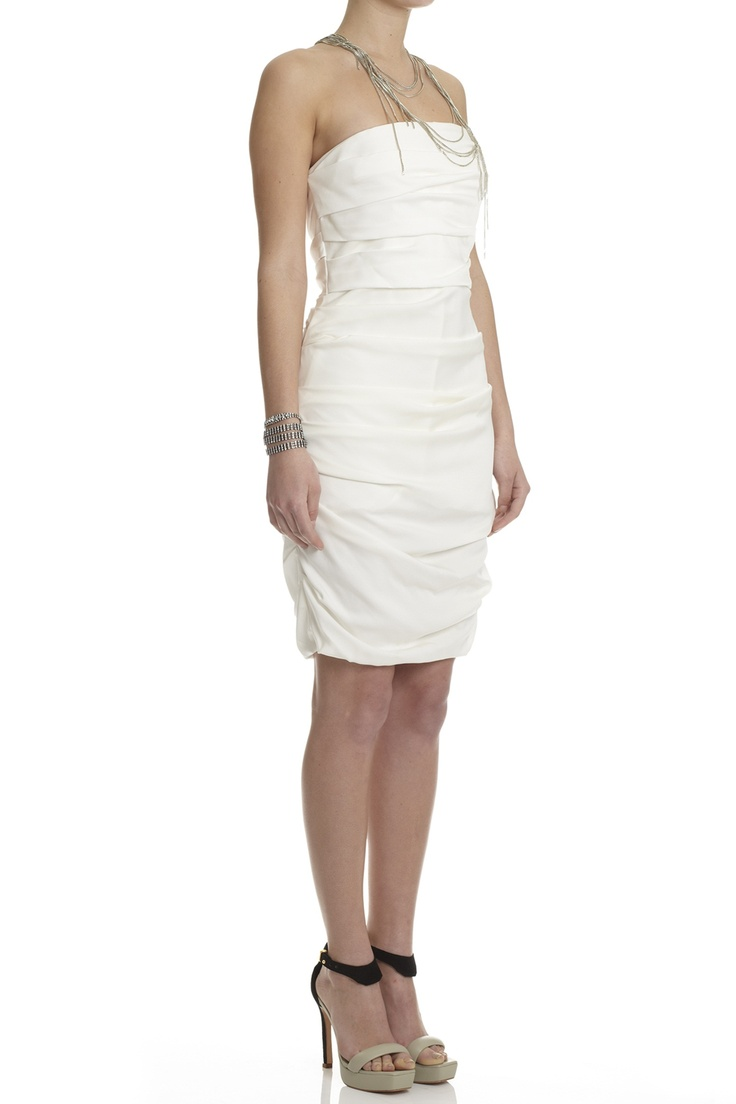 Dresses strapless dress w rouched front lisa ho