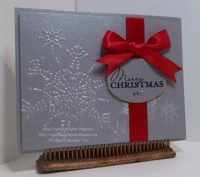 glitzy christmas card