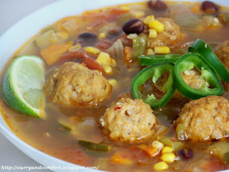 Mexican Meatball Soup (Albondigas)--just omit the rice/potatoes