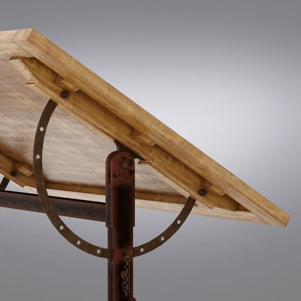 Restoration Hardware 1920s French Drafting Table By Vizmode