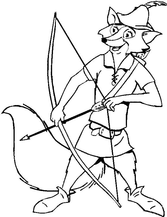 robin hood fox coloring pages - photo#2