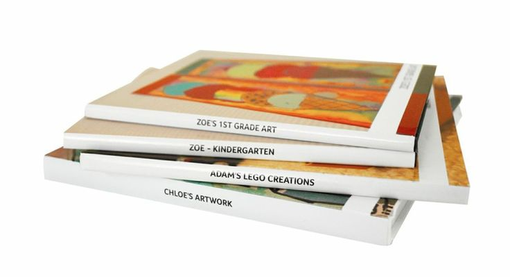 Awesome Mother's Day gift: Your kid's artwork all compiled digitally into one printed book.