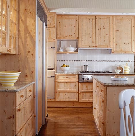 Knotty pine cabinets pine interior pinterest for Knotty pine kitchen cabinets