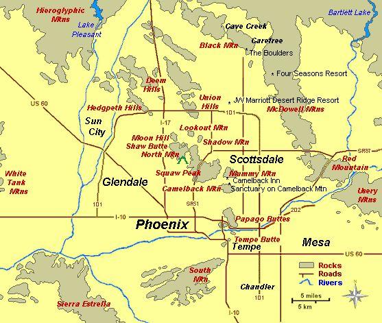 Interactive Map Of Phoenix Area  Arizona  Pinterest