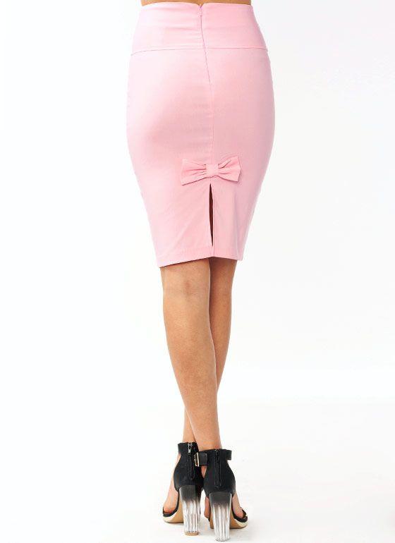 high waisted pencil bow skirt 18 80 clothes