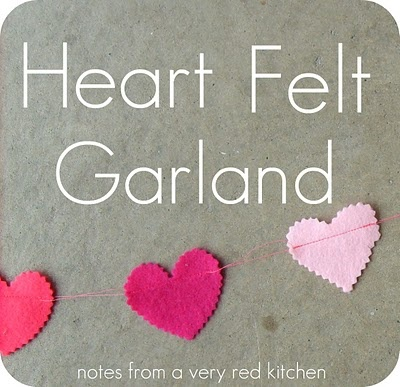Variation on the paper heart garlands I pinned earlier...