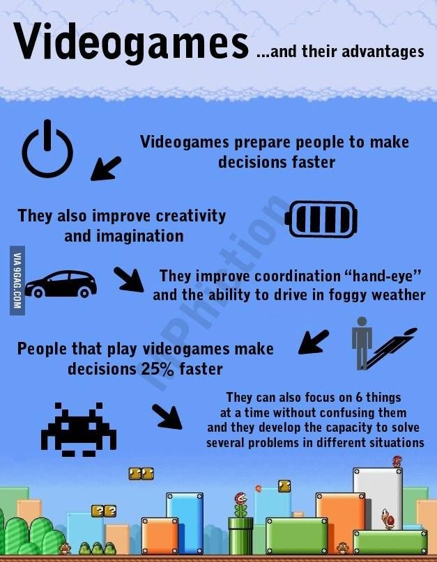 Videogames... and their advantages.  Via 9Gag.