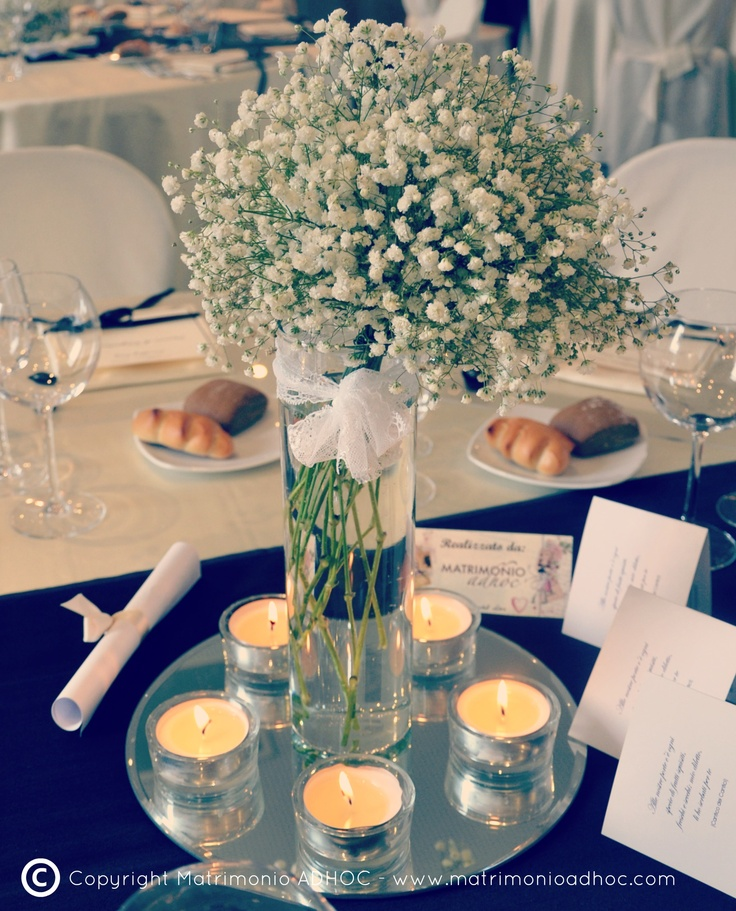 Pin by matrimonio adhoc on idee per centrotavola pinterest for Centrotavola matrimonio candele