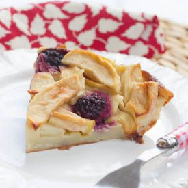 ... in a delicious clafoutis batter. Warm and delicious fall pudding