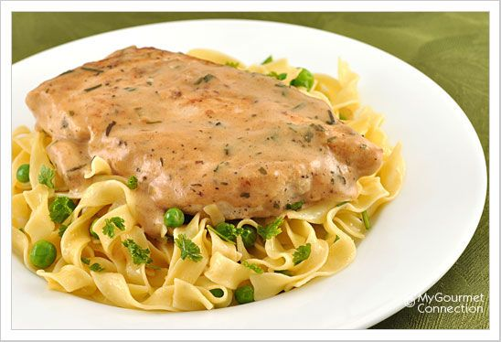 Chicken with Tarragon-Mustard Cream Sauce from MyGourmetConnection.com