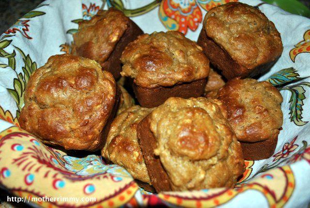 Banana Peanut Butter Muffins | Recipe