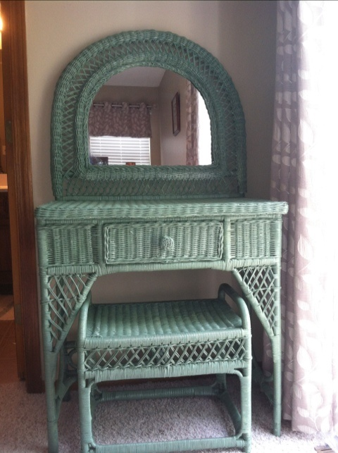 Wicker Vanity Home Apartment Decor Pinterest