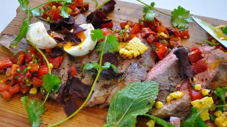 Flank Steak with Salsa Roja | Yum | Pinterest