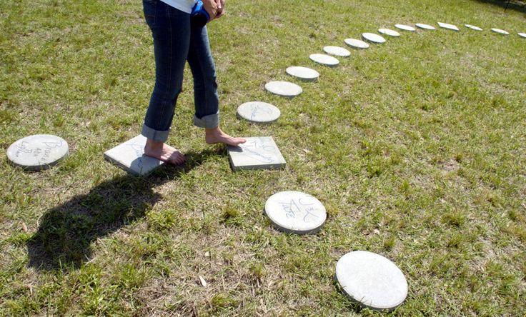 The rosary walk garden ideas pinterest for Rosary garden designs
