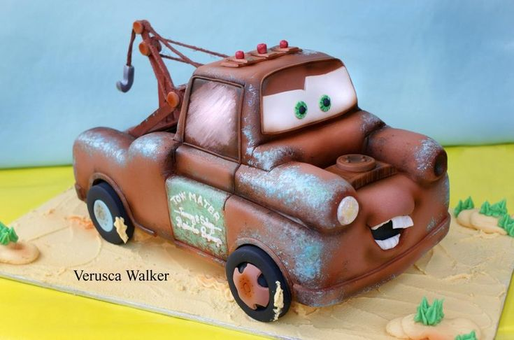 Tow Mater 3D Cake by ~Verusca on deviantART