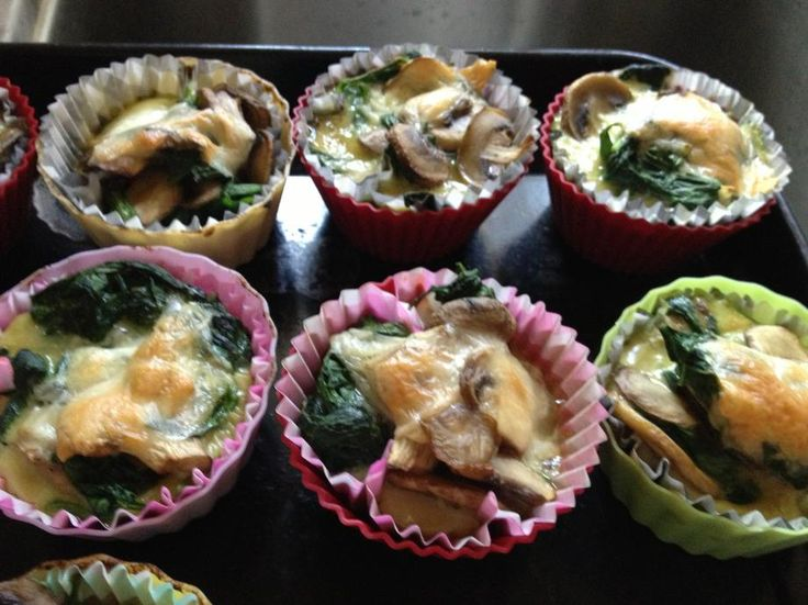Mushroom and Spinach Egg Cups | Low carb | Pinterest