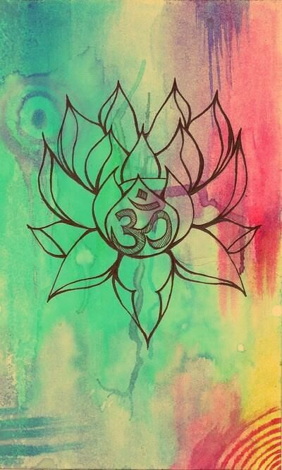 Lotus Flower And Om Puncture Pinterest