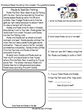 2nd grade reading comprehension worksheets common core