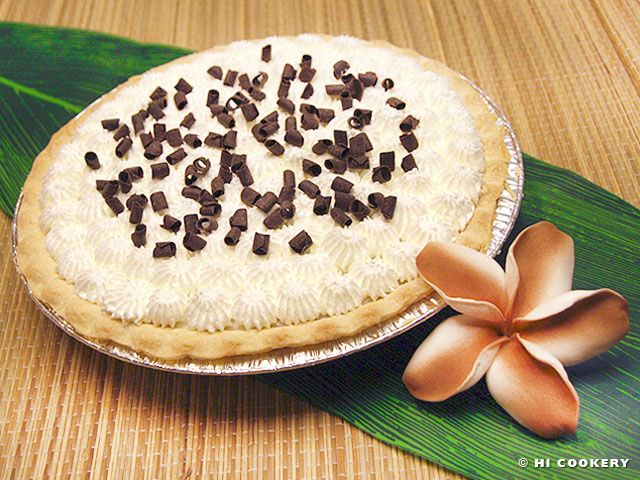 Chocolate Haupia Pie | Cheesecake & Pies Oh My | Pinterest
