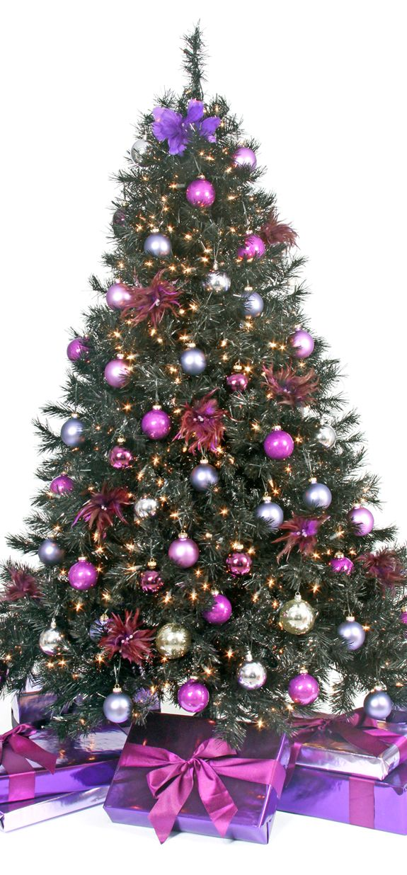 christmas tree purple christmas pinterest. Black Bedroom Furniture Sets. Home Design Ideas
