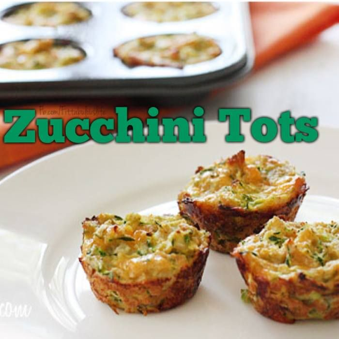 zucchini tots - just made these in regular size muffin tins and subbed ...