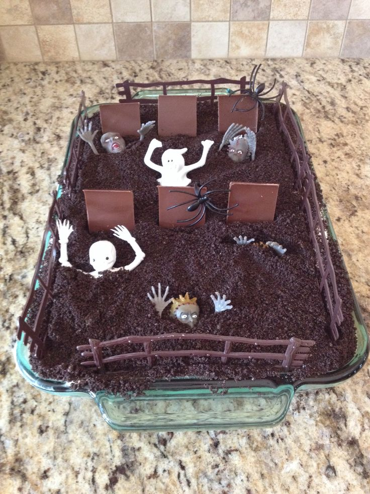 Peanut Butter And Chocolate Graveyard Dirt Cake Recipe ...