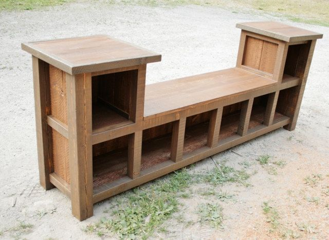 Reclaimed Rustic Entry Bench 8 Cubbies. $600.00, via Etsy ...