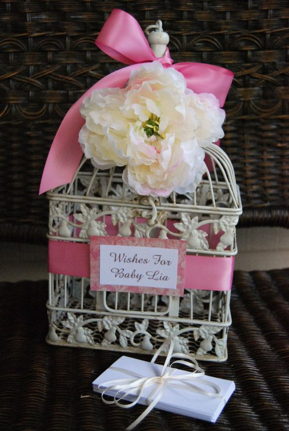 baby shower birdcage wishing well with wish by mackensleydesigns 35
