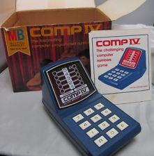 L@@K!!! 1977 MILTON BRADLEY COMP IV COMPUTER GAME IN BOX L@@K!!!