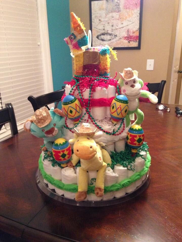 mexican themed baby shower diaper cake done by britney leigh scott