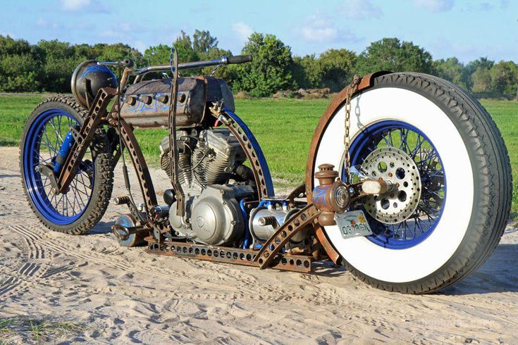 Completely Sick Home Made Custom Rat Rod Bobber Motorcycle | The