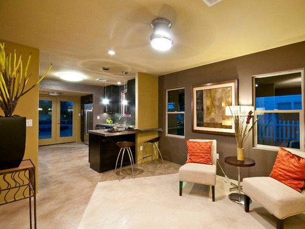 Modern lounge hgtv mashup pinterest for Modern living room wall colors