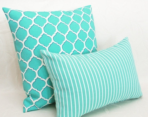 Turquoise Patio Pillows Outdoor Spaces