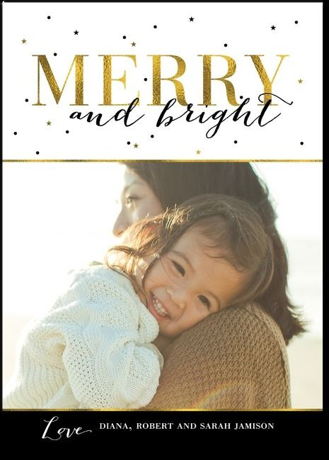 Add a bit of sparkle to your holiday photo card with our gold-inspired design. #TinyPrintsCheer