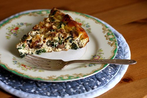 crustless quiche with spinach and mushroom but adaptable to any ...