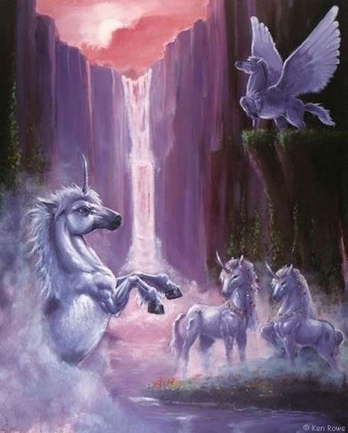 magickal waterfalls and unicornsUnicorns And Waterfalls
